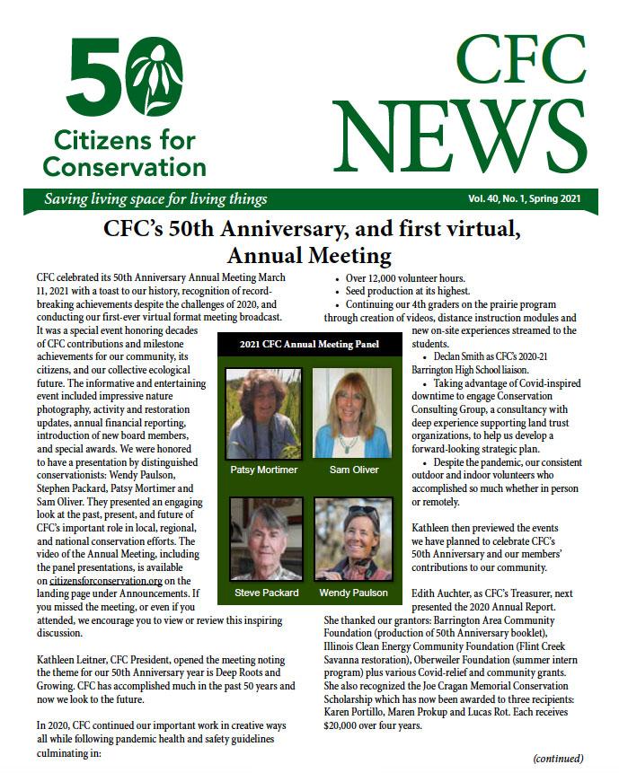 CFC Newsletter Spring 2021